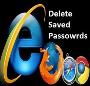 delete saved passwords