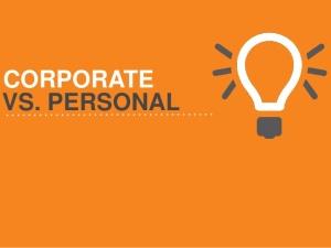 corporate vs personal